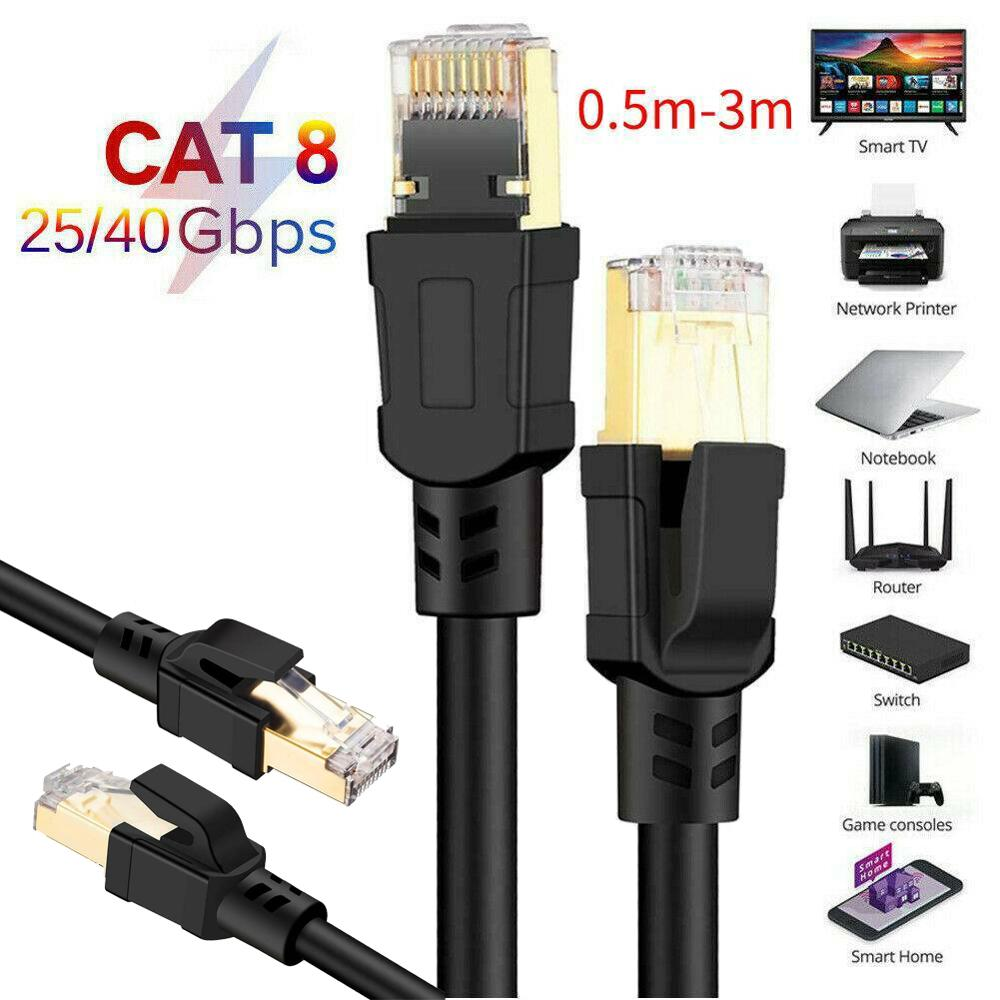 0.5M-3M Cable Length Ethernet Cable RJ45 Cat8 Lan Cable UTP RJ 45 Network Cable For Modem Router Cable Ethernet 2000Mhz PC