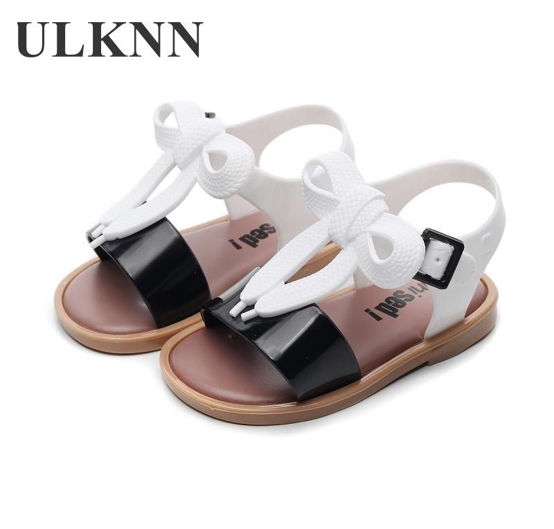 ULKNN Summer Children Jelly Shoes Cartoon Girl Summer Sandals Black 2020 New Princess Casual Sandals Flats