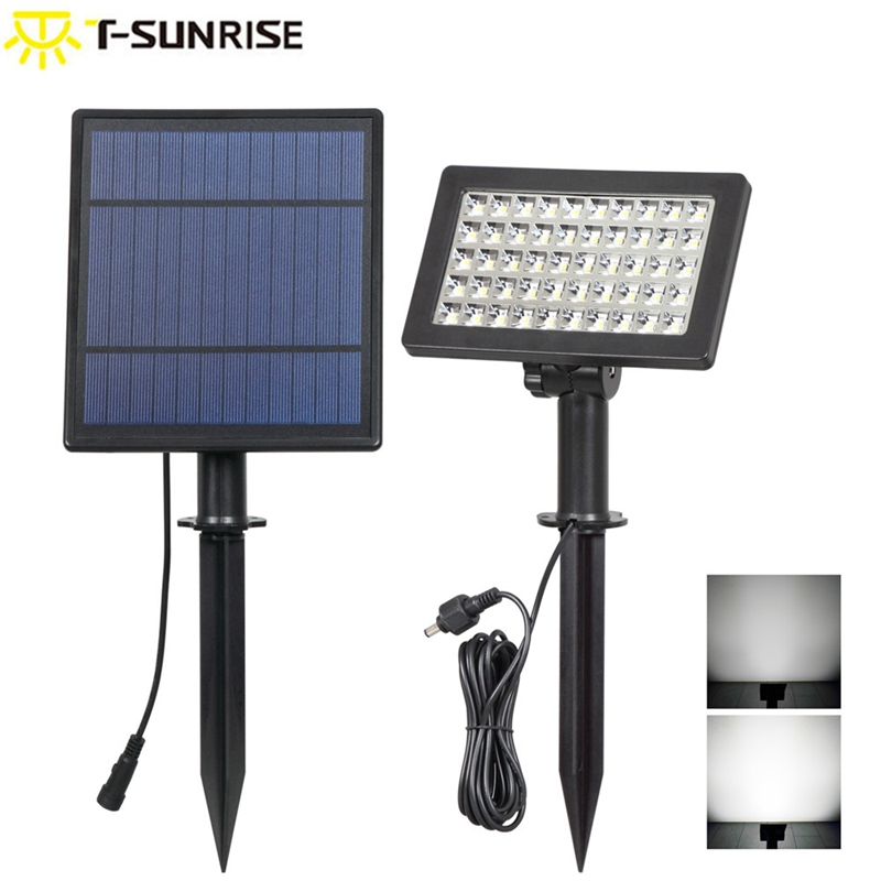 T-SUNRISE Solar Spotlight 50 LED Outdoor Lighting Angle Adjustable Solar Garden Lamp IP44 Waterproof Security Lamp For Garden