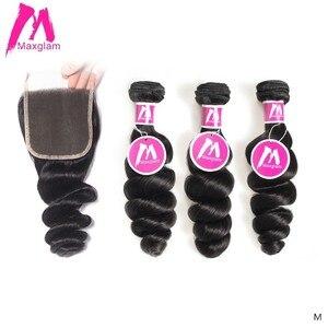 Бразильские натуральные кудрявые пучки волос с закрытием свободная волна натуральные Короткие Длинные волосы remy для наращивания для черны...
