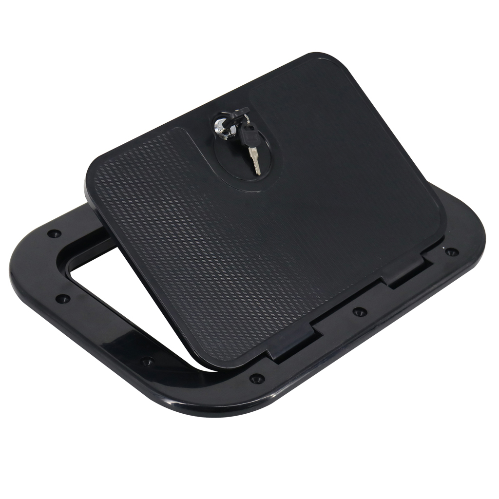 Marine Boat Access Hatch Cover - Round, Screw Out Deck Inspection Plate, Anti-aging, 248 X 378mm