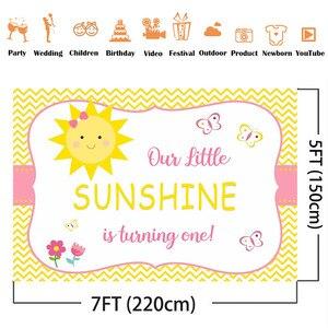 Image 2 - 1st birthday backdrop Sunshine first birthday background for photo studio kids birthday decoration butterfly sun girls birthday