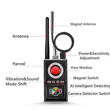 AI Intelligent Upgrade Wiretap Anti Spy Bug Detector Mini Hidden Camera GSM GPS Tracker Eavesdropping Finder 3