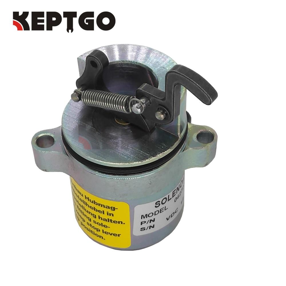 Fuel Shut Off Solenoid 04170534R for Deutz BF4M1011F Bobcat Skid Steer Loader