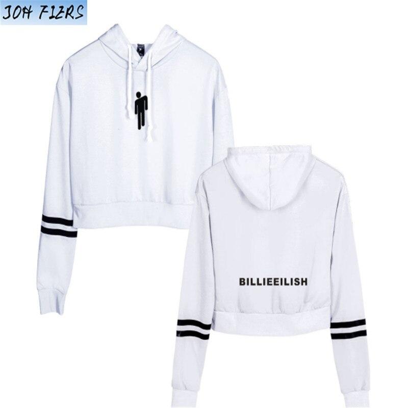 Hot Sale Billie Eilish Hoodies Crop Top Women Sexy Spring Autumn Cotton High Quality Billie Eilish Girl's Sweatshirts