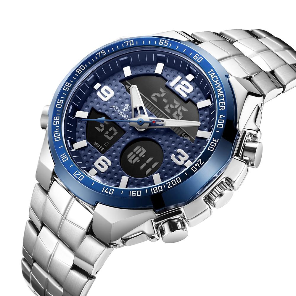 שעון יוקרה עם תצוגה כפולה לגבר Senors 4