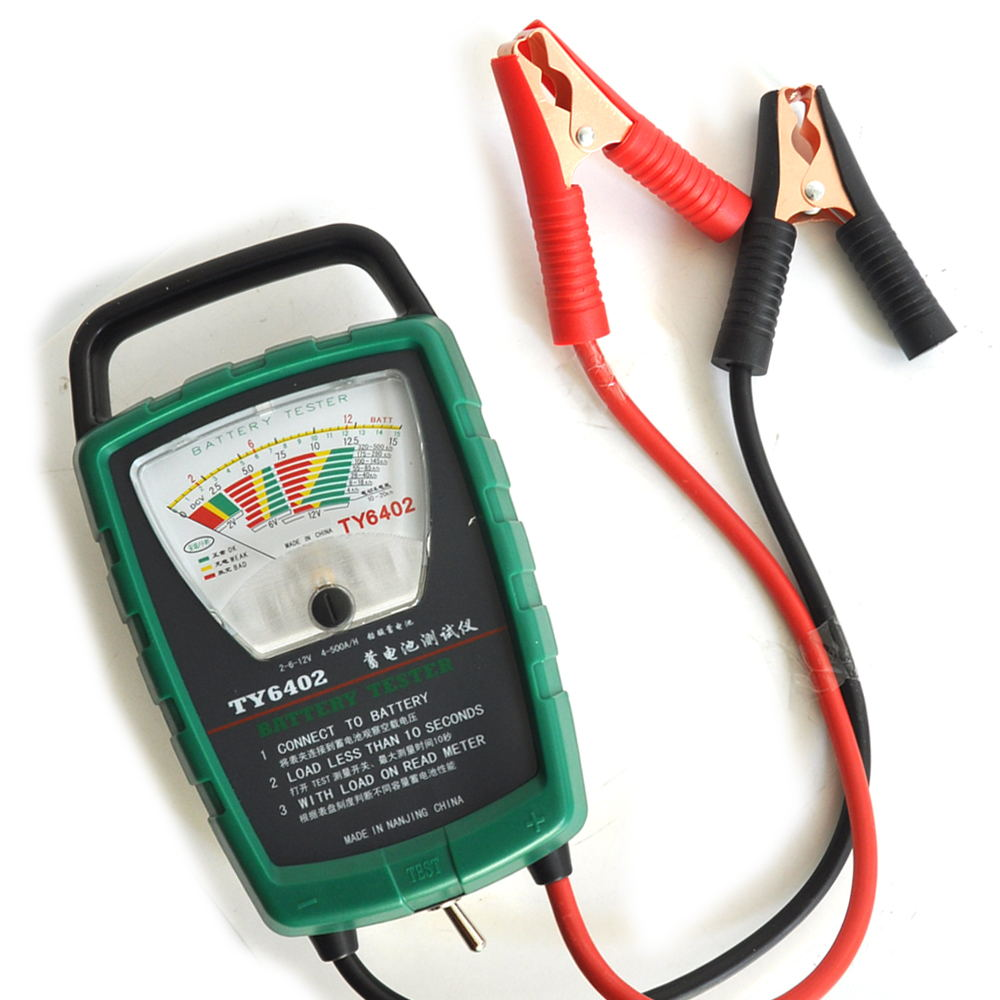 TY6402 500A 2V 6V 12V Automotive/ Car Battery Tester/ Alternator/ Cranking Check Easy to Use