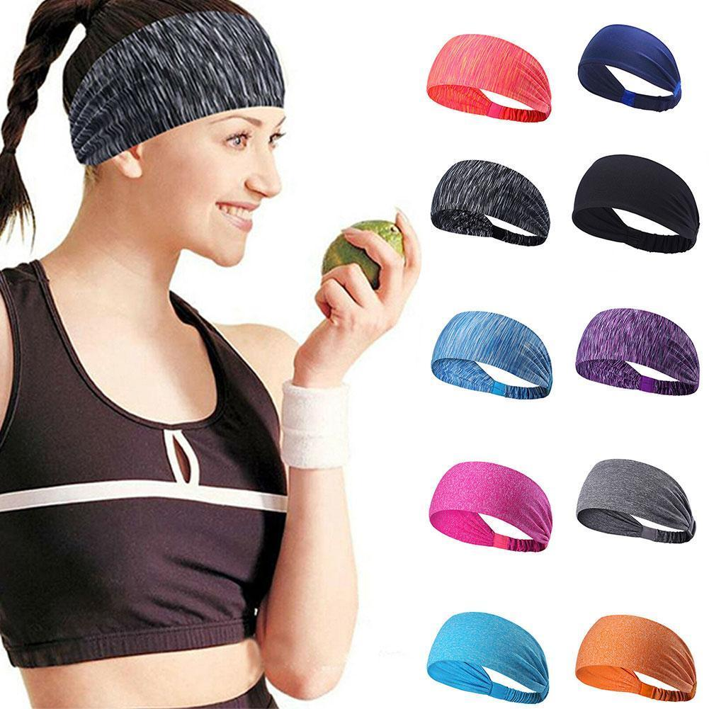 New Arrive Women's Yoga Sports Hair Band Elastic Yoga Sport Headband Football For Girls Band Mens Solid Hair Sweatband Runn H8D7