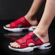 Shoes Sandals Slippers Trekking Black Male Beach Mens Casual Red-Color Barefoot Pria