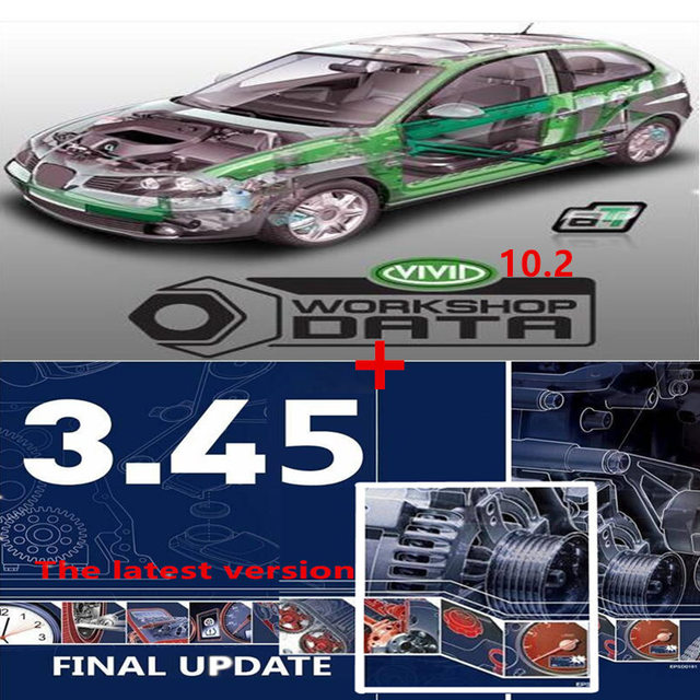 2020 hot selling auto repair software vivid 10.2 software auto  data 3.45 of Europe information auto  data software
