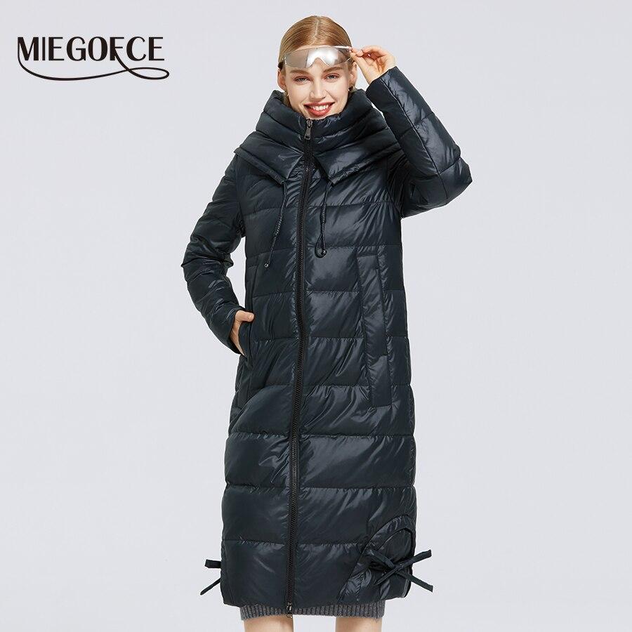MIEGOFCE 2020 New Women's Winter Cotton Clothing Long Cotton Coat Simple Design Women Jacket Winter Parka Windproof Jacket|Parkas| - AliExpress