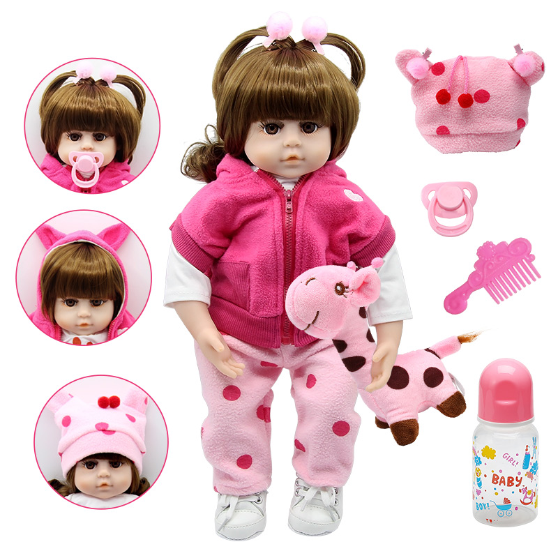 Silicone Reborn Dolls 47cm Alive Toddler Realistic Lifelike Real Girl Baby Doll Lol Birthday Christmas Play Toys for Children(China)