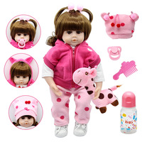 Silicone Reborn Dolls 47cm Alive Toddler Realistic Lifelike Real Girl Baby Doll Lol Birthday Christmas Play Toys for Children