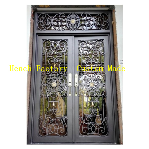 Shanghai Hench Brand China Factory 100% Custom Made Sale Australia Thermal Break Iron Doors