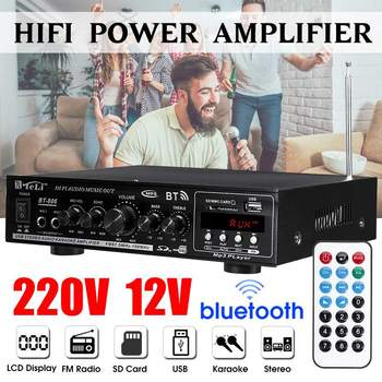 2000W Hifi Power Amplifiers Stereo Audio bluetooth Amplifier Car Home Theater Sound System+Remote Control Support FM USB SD Card
