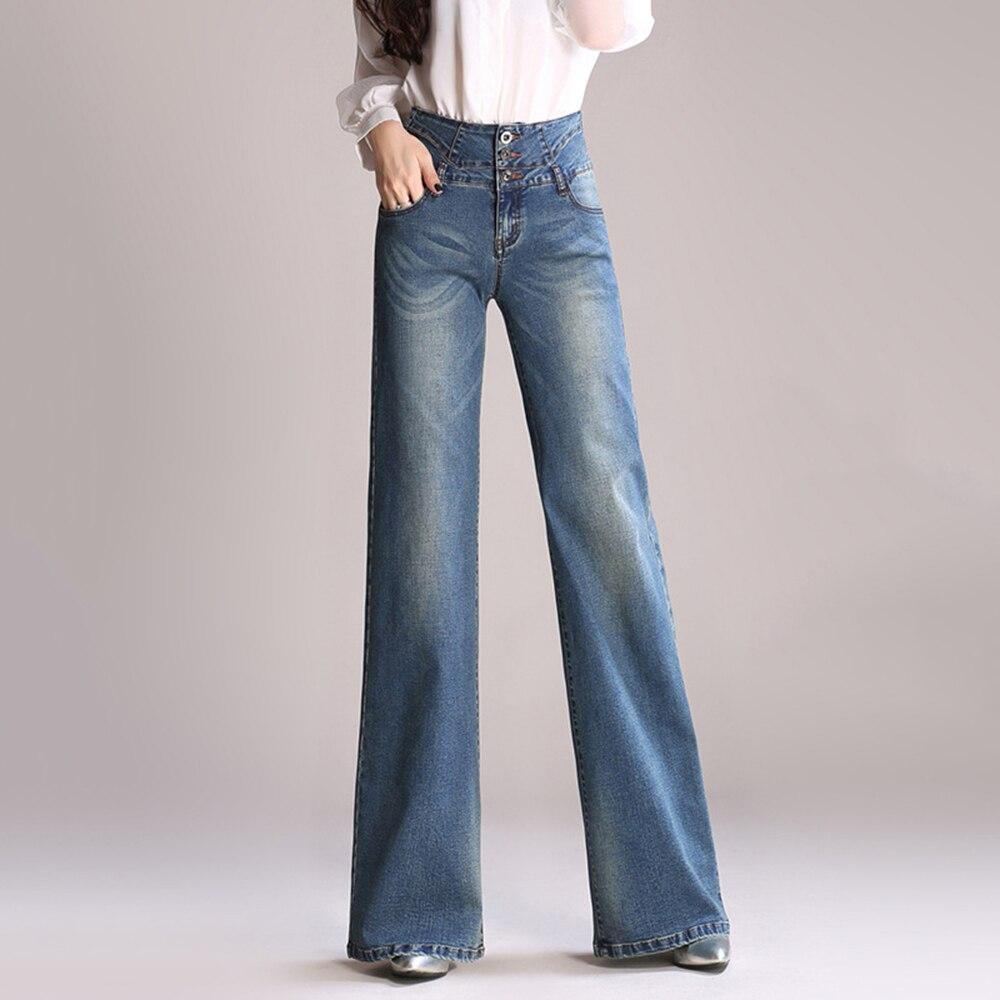 Женские Длинные свободные прямые джинсы с высокой талией, свободные синие брюки большого размера, размеры S 5XL, новинка 2020|Джинсы|   | АлиЭкспресс