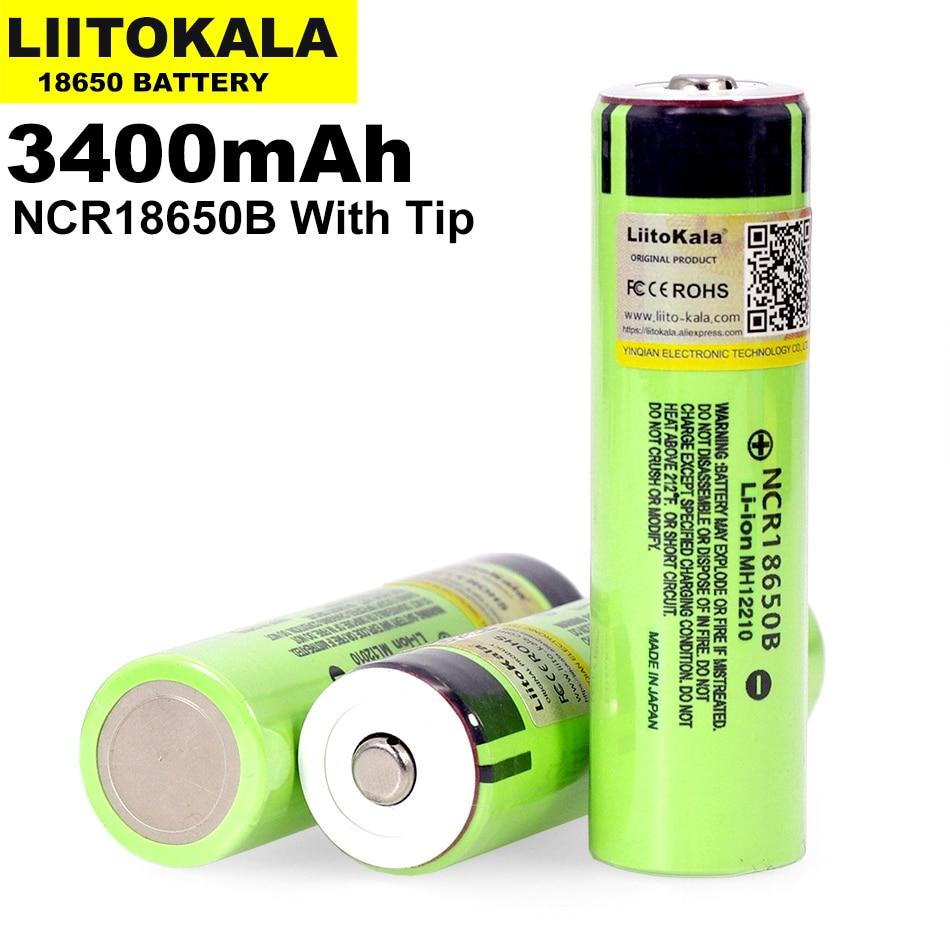 2019 Liitokala оригинальный NCR18650B 3,7 V 3400 mah 18650 литиевая аккумуляторная батарея подходит для фонарика батареи (No печатной платы)