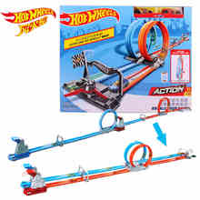 Hot wheels Carros Track Model Cars Train Kids Plastic Metal Toy-cars-hot-wheels Hot Toys For Children Juguetes GFH85