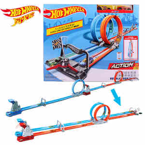 Hot wheels Carros Track Model Cars Train Kids Plastic Metal Toy-cars-hot-wheels Hot Toys For Children Juguetes GFH85(China)