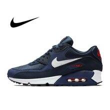 NIKE-Zapatillas deportivas para hombre, zapatos de deporte masculinas esenciales para uso en exteriores, zapatillas cómodas originales NIKE AIR MAX 90 duraderas y transpirables
