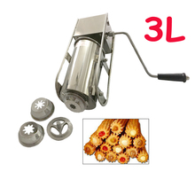 Syringe-Machine Churros-Maker Sausage Spanish Manual Stainless-Steel Horizontal-3l Stuffer