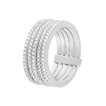 Кольцо из серебра с фианитами R00487