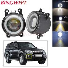 2pcs Car Accessories H11 LED Bulb Fog Light Angel Eye Daytime Running Lamp 12V For Mitsubishi Pajero 4/IV 2007-2015