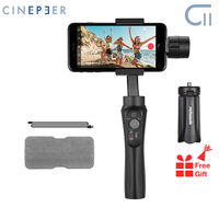Zhiyun cinepeer c11 smartphone cardan 3 eixos handheld estabilizador para iphone 11 pro max xs x 8 p 8 para samsung s10 s9 smartphones|Estabilizador portátil| |  -