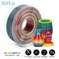 Sunlu arco-íris pla filamento 1.75mm 1 kg colorido pla filamento dimensão precisão +/-0.02mm chegada nova 3d impressora material