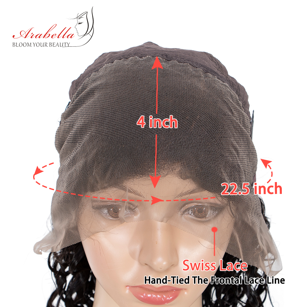 Jerry Curly 13*4 Lace Front Wig With Baby Hair Arabella  Hair PrePlucked  Hair Lace Front Wig Curly  Wigs 6