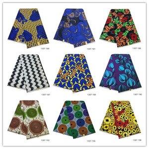 Image 1 - 2019 האחרון אנקרה שעוות בד מובטח אמיתי שעווה 6 חצר/הרבה באיכות גבוהה אפריקאי בד הדפסת עבור תפירת שמלה 1307