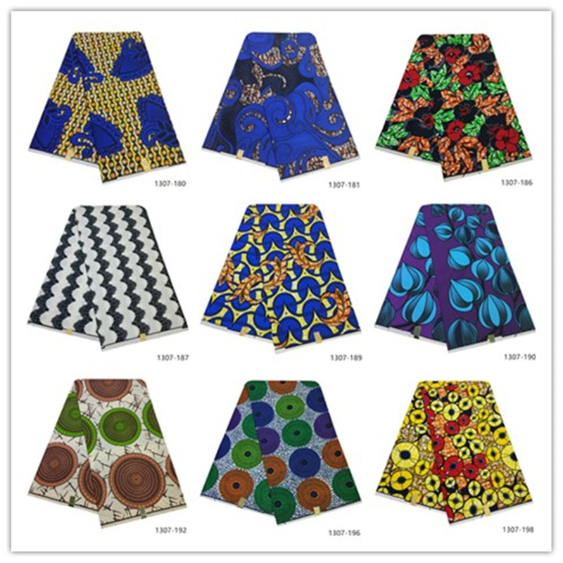 2019 Latest Ankara Wax Fabric Guaranteed Real Wax 6yard/lot High Quality African Fabric Print For Sewing Dress 1307