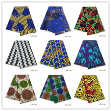 2019 последняя Анкара ткань с воском гарантированное Настоящее Воск 6 ярдов/лот Высокое качество африканские тканевые с принтом для шитья платья 1307