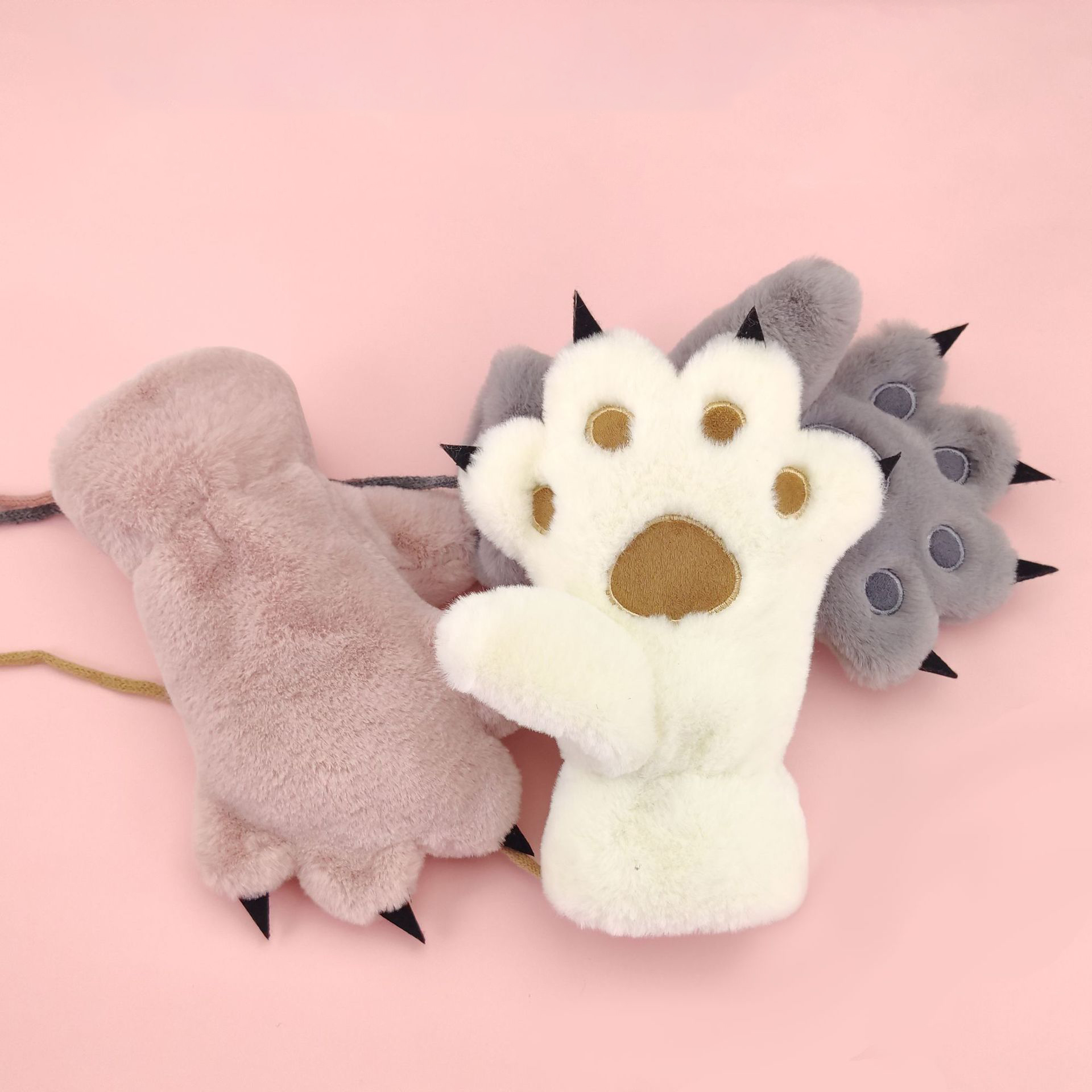 Animal Cartoon Paw Gloves Plush Keep Warm Bear Claws Cosplay Costume Gloves for Kids Boy Girl, Under 11 Years Old Gifts