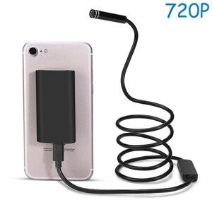 Image 2 - Wireless WIFI Endoscope Camera Waterproof Inspection Mini Camera 8mm USB Endoscope Borescope For Iphone Android PC IOS APP