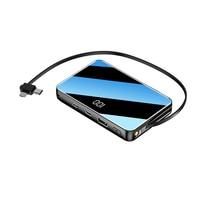 Power Bank 20000mAh For iPhone 11 pro Samsung Xiaomi mi 8 9 Portable Powerbank Mirror Screen Type C External Battery Poverbank|Power Bank|   -