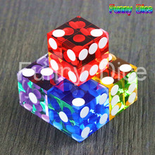 5pcs of Top Grade 19mm Casino Dice with Razor Edges and Matching Serial Numbers,Clear Translucent D6 ,Royal Craps(China)