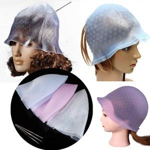 Image 3 - Riutilizzabile Professionale Salon Hair Color Colorazione Evidenziazione Dye Cap per Extensions Strumenti Per Lo Styling Barbiere Salone di Bellezza Dei Capelli