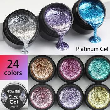 ROSALIND Gel Nail Polish Glitter Paint Hybrid Varnishes Shiny Top Base Coat For Nails Set Semi Permanent For Manicure Nail Art 1