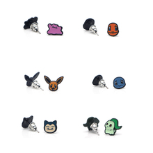 V147 Wholesale 20 pairs/lot Elfin Cute Ear Stud Earring for women Cartoon Studs Fashion Jewelry Prevent allergy Kids Gifts f135 princess cat fashion cartoon stud earring cute earrings for women kids ear studs
