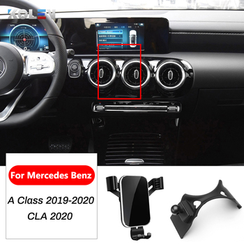 Car Mobile Phone Holder For Mercedes Benz A Class W177 CLA C118 W118 CLA250 220 A180 A200 AMG Air Vent GPS Gravity Bracket Stand image