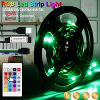 Tira de luces LED RGB SMD 2835 cinta de luz de neón impermeable RGB cc 5V, diodo de cinta, tira de luz led Flexible, control por infrarrojos