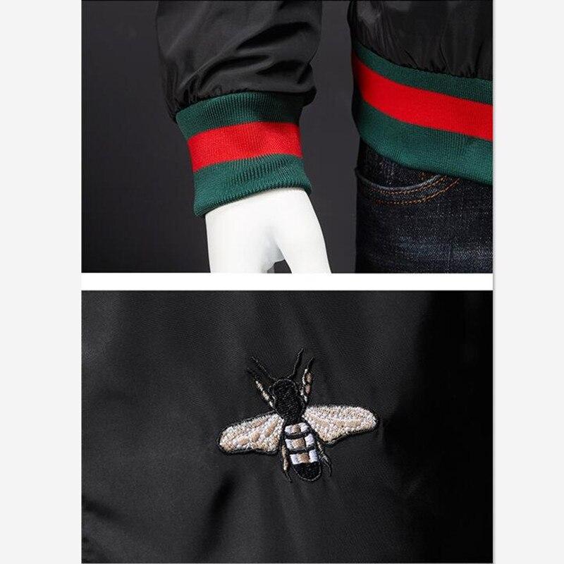 Men Bomber Jacket Thin Slim Long Sleeve baseball Jackets Windbreaker Zipper Windbreaker Jacket Male Outwear Brand Clothing Y278 6