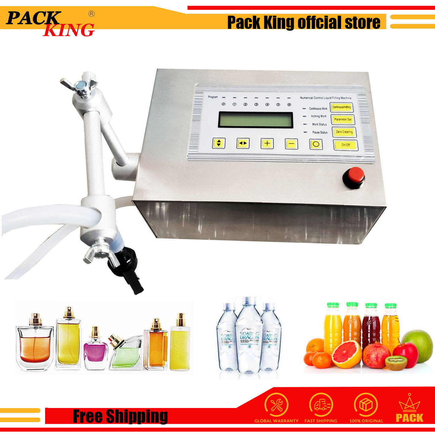 5-3500ml Liquid Water Juice Milk Digital Filler Perfume Filling Machine Electric Digital Control Liquid Filling Device