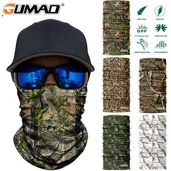 3D Jungle Tree Camo Neck Gaiter Cover Face Tube Military Cycling Hunting Mask Airsoft Fishing Tactical Bandana Scarf Men Women 1