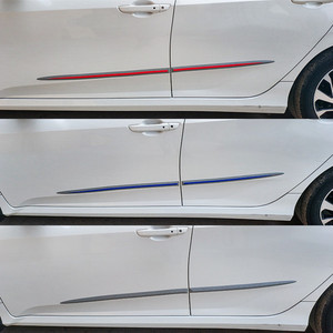 Image 4 - 4 adet evrensel tam siyah araba gövde/yan kapı anti çarpışma Anti scratch dekorasyon koruyucu yapışkan şerit araba Sticker