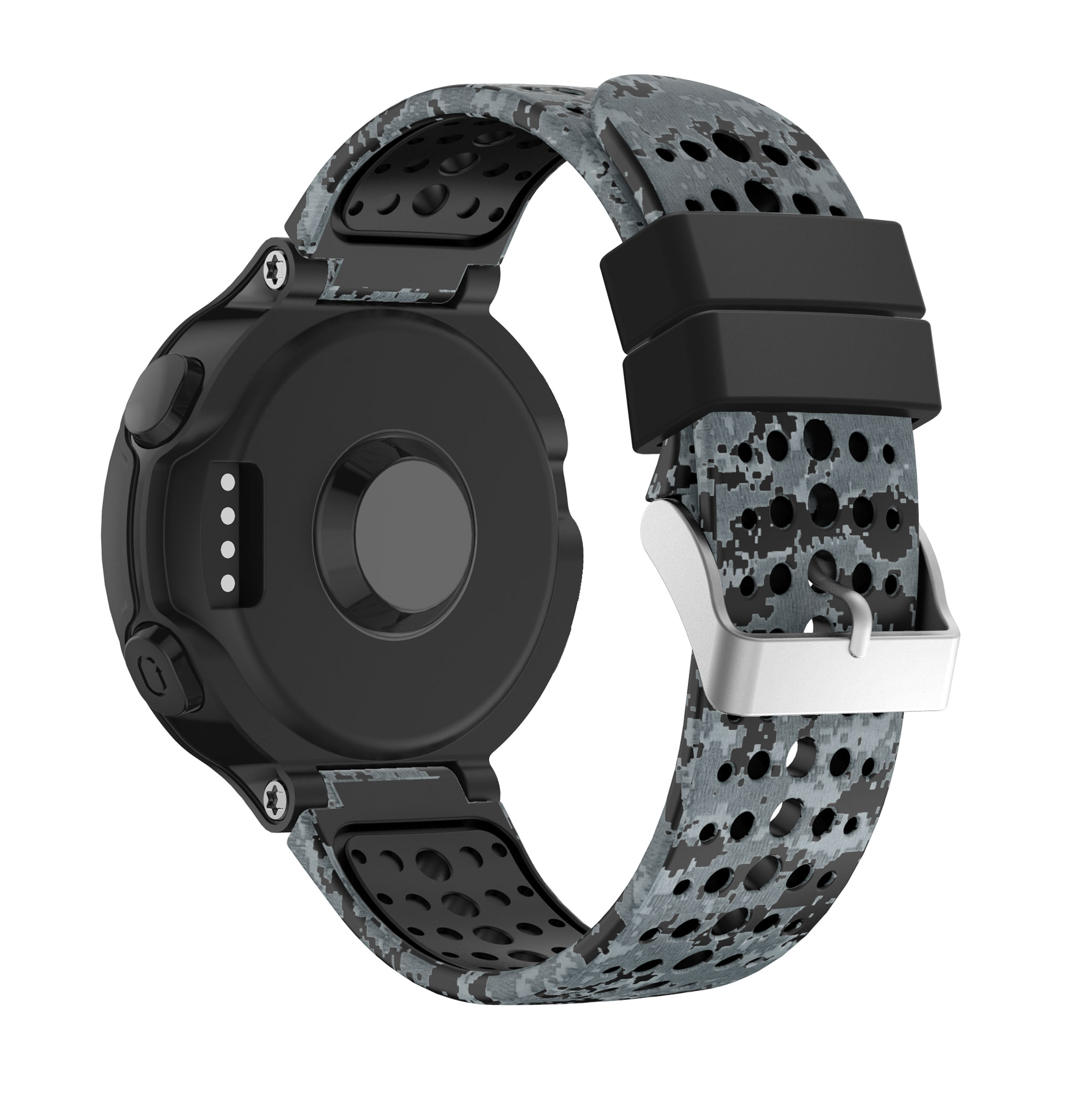 Image 2 - Yayuu Printed Silicone Watch Band For Garmin Forerunner 220/230/235/620/630/735XT Bracelet Replacement Wrist Strap   Buckle band-in Smart Accessories from Consumer Electronics