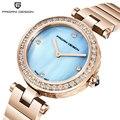 Pagani Design Luxus Marke Strass Uhr Frauen Sapphire Glas Uhren Damen Edelstahl Quarz Gold Armbanduhr Weibliche