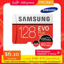 SAMSUNG Micro SD 256GB 128GB 64GB 32GB EVO Plus Thẻ MicroSD Thẻ Nhớ EVO + SDHC SDXC Max 100 Mét/giây C10 TF Trans Flash 512GB