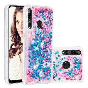 Image 1 - Telefono Cellulare di lusso Custodie Per Huawei P20 Lite Honor 10i 8A 8S Y7 Y6 Y9 Pro Prime Godere 9 Caso glitter Liquido Sabbie Mobili Del Respingente di TPU Coque